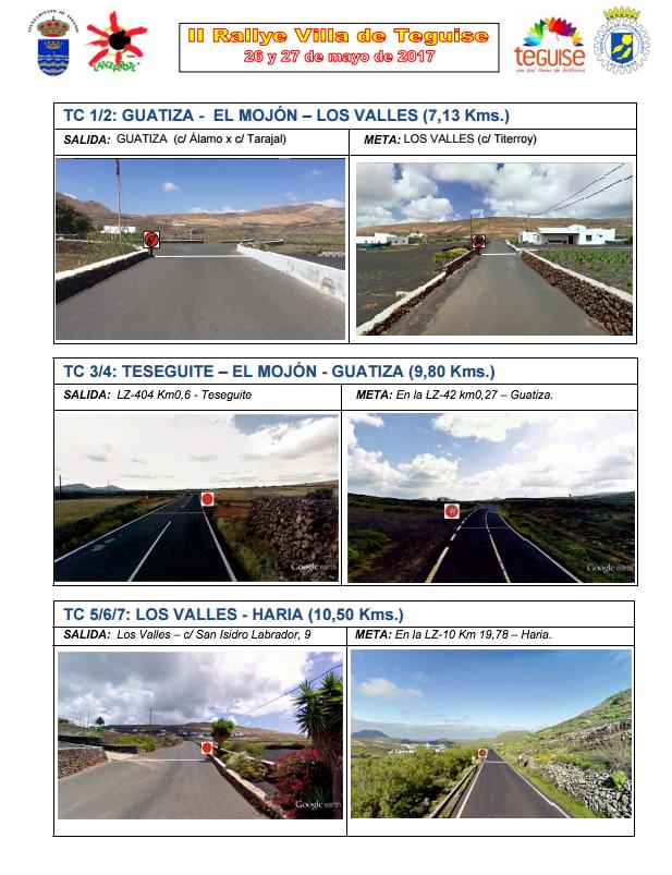 Rallye Villa de Teguise 2017 salidas y metas